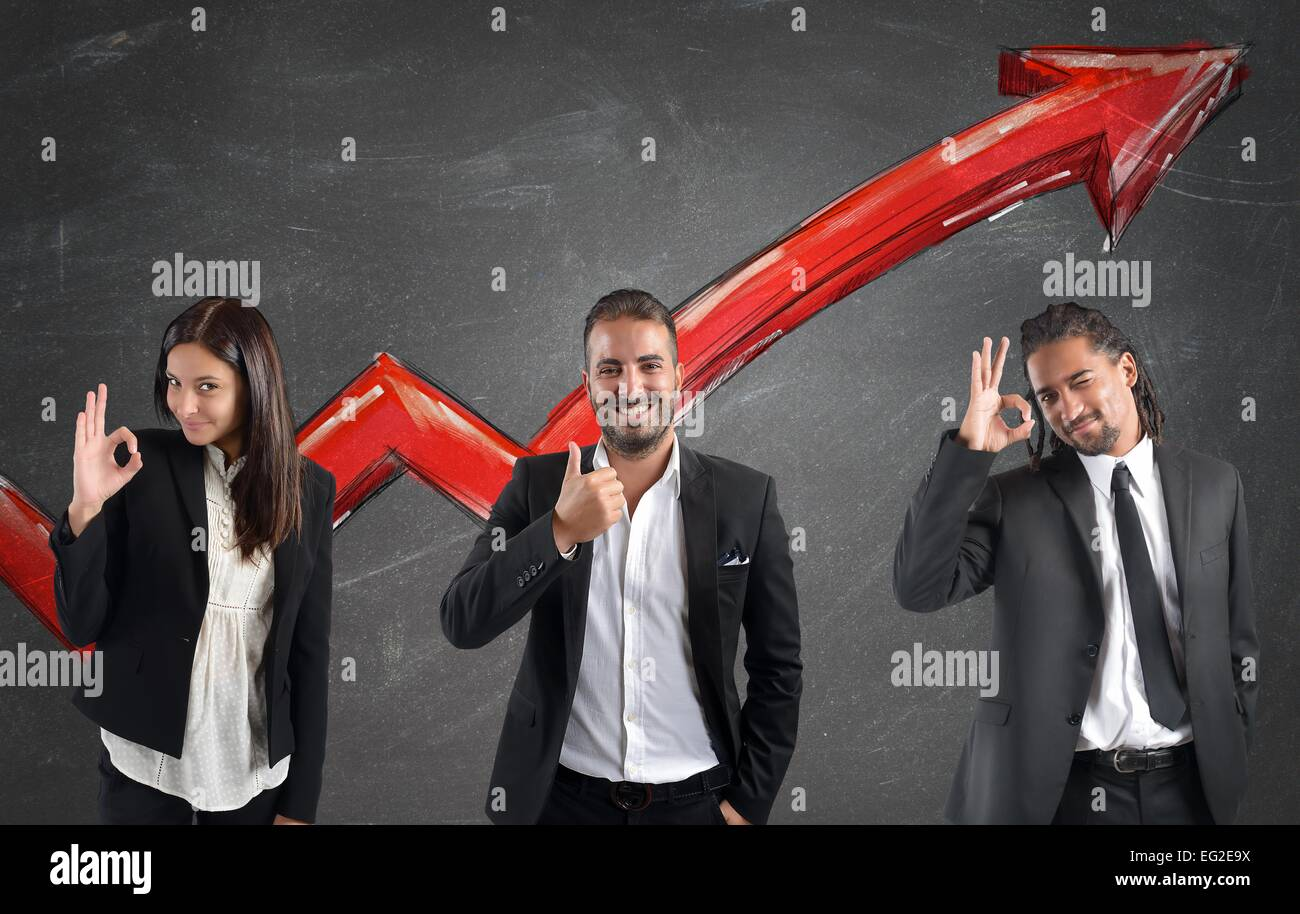 Financial profits of Businessperson - Stock Image