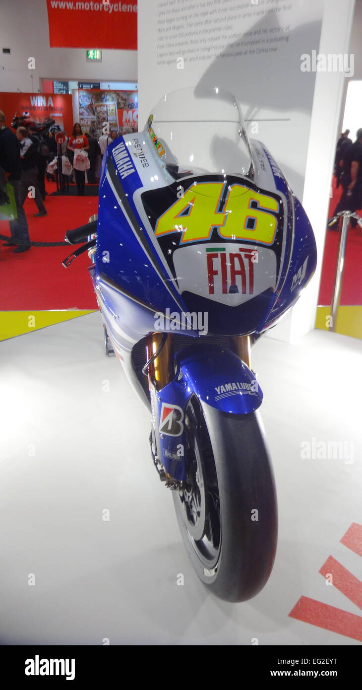 London, UK. 13th February, 2015 MCN London Motorbike show at Excel in London. valentino rossi bikes © Swiftcreative - Stock Image