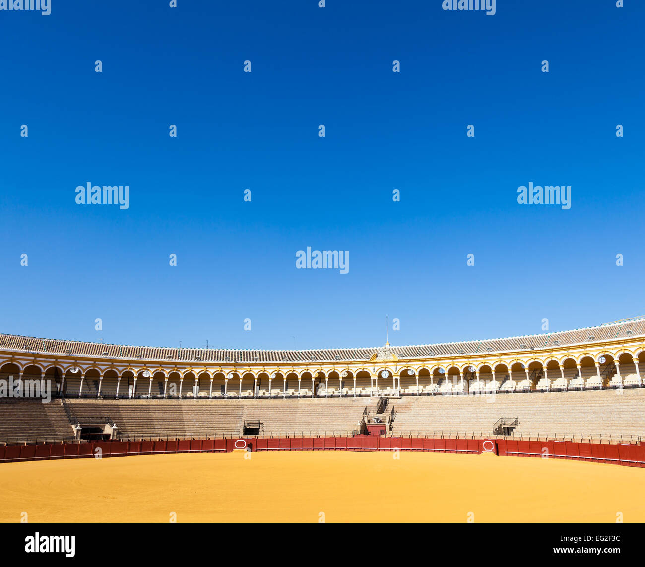 The Plaza de Toros de la Real Maestranza de Caballería de Sevilla is the oldest bullring in the world. - Stock Image
