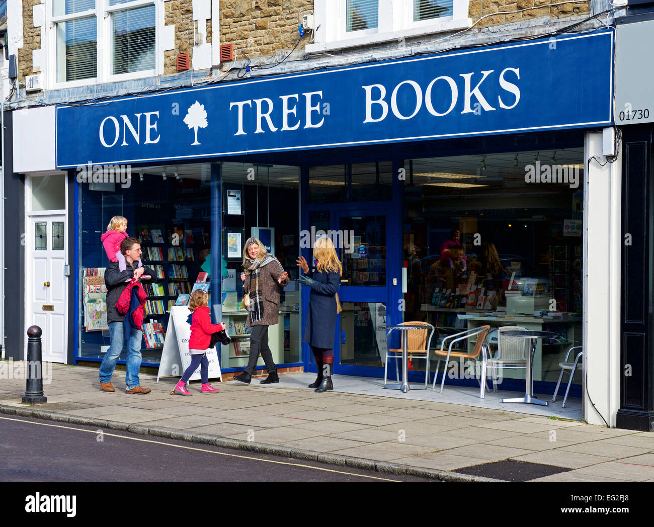 One Tree Books, an independent bookshop in Petersfield, Hampshire, England UK - Stock Image