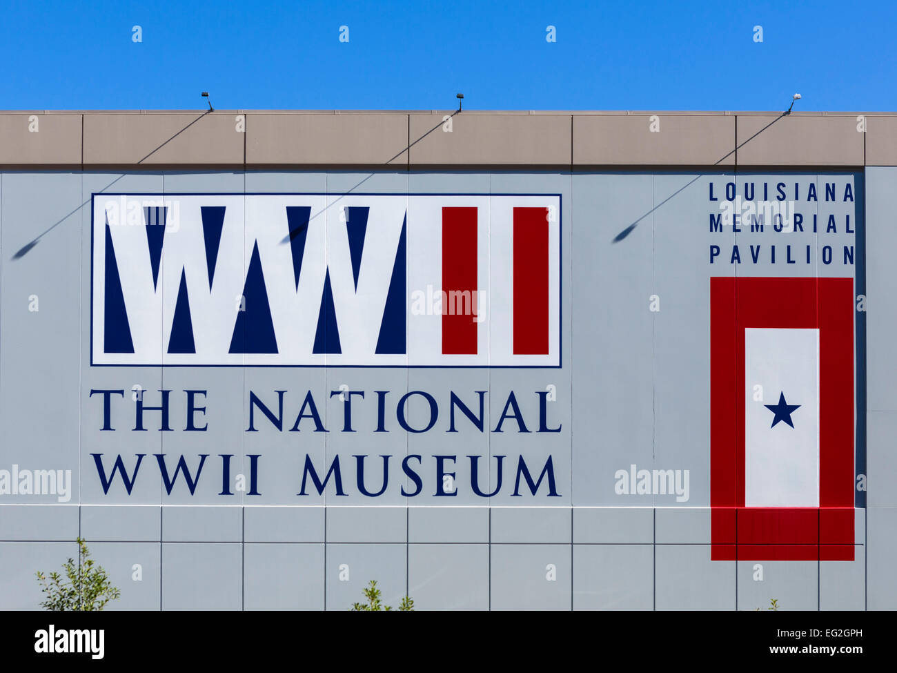 The National World War II Museum on Camp Street in downtown New Orleans, Lousiana, USA - Stock Image
