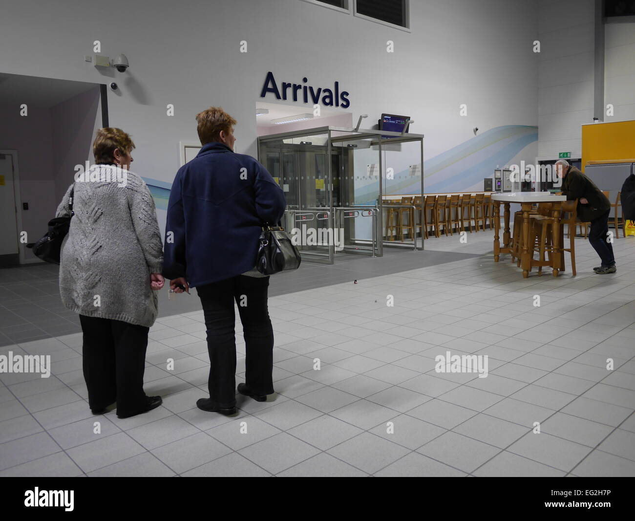London Southend Airport Arrivals area - Stock Image