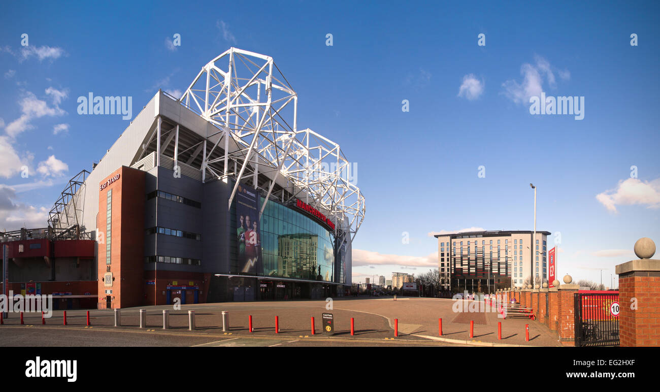 Old Trafford, The Home of Manchester United Football Club. - Stock Image