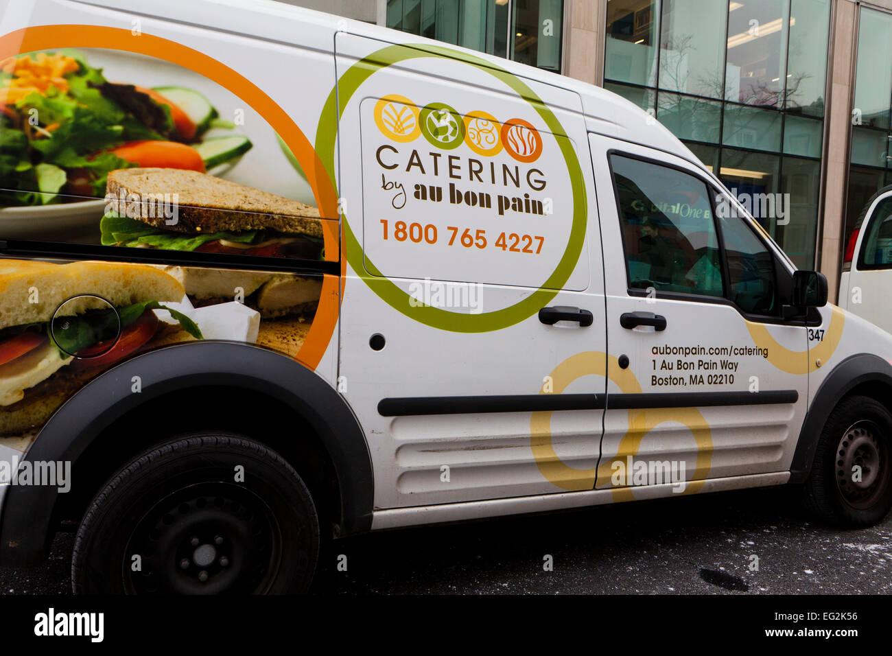 Au Bon Pain Catering delivery van - Washington, DC USA Stock Photo
