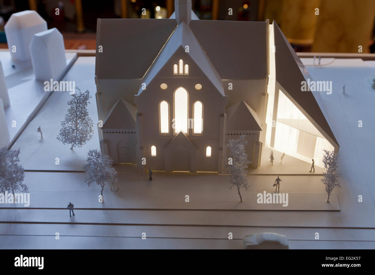 Architectural model for church building - USA - Stock Image