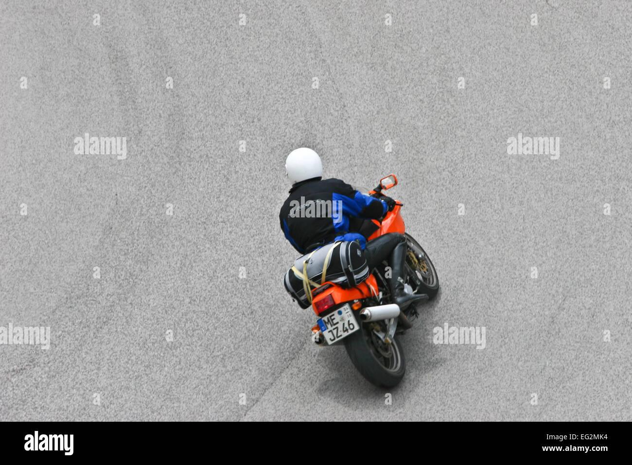 Ducati in the italian alps - Stock Image