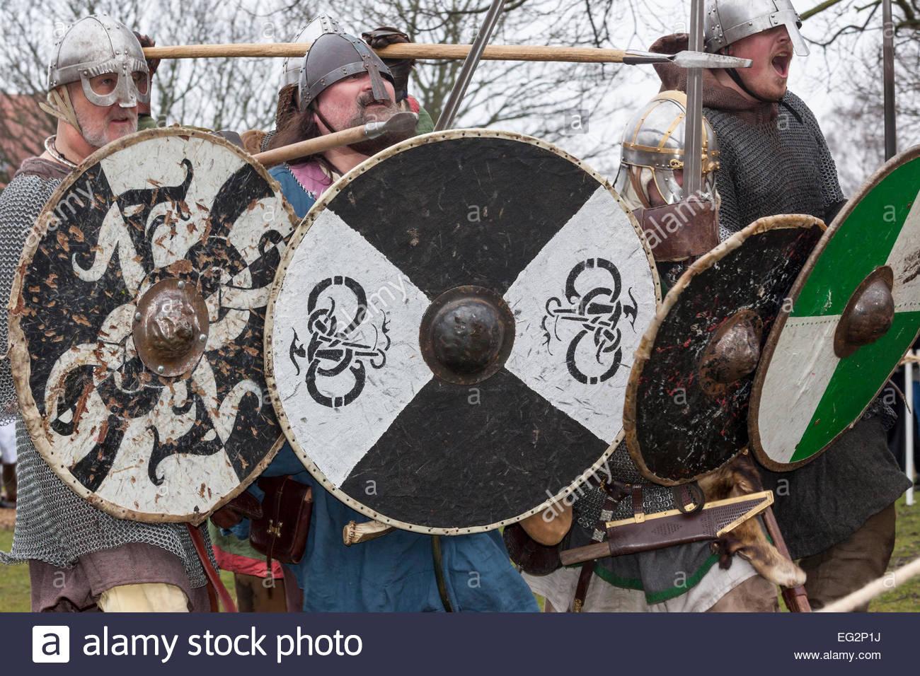 York, North Yorkshire, UK. 14th Feb, 2015. York's 31st Jorvik Viking Festival has started. Festival runs from - Stock Image