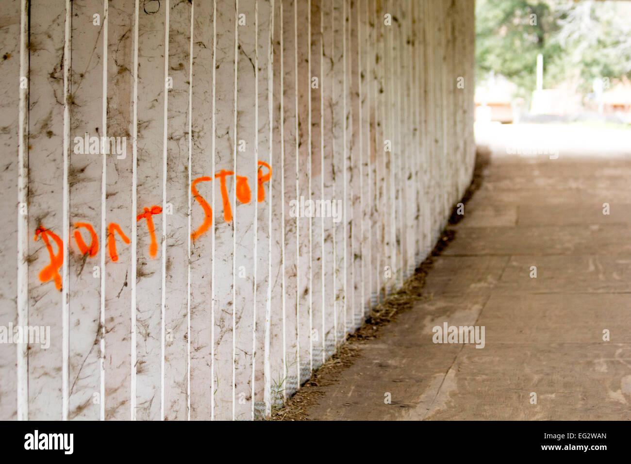A bit of encouraging vandalism. - Stock Image