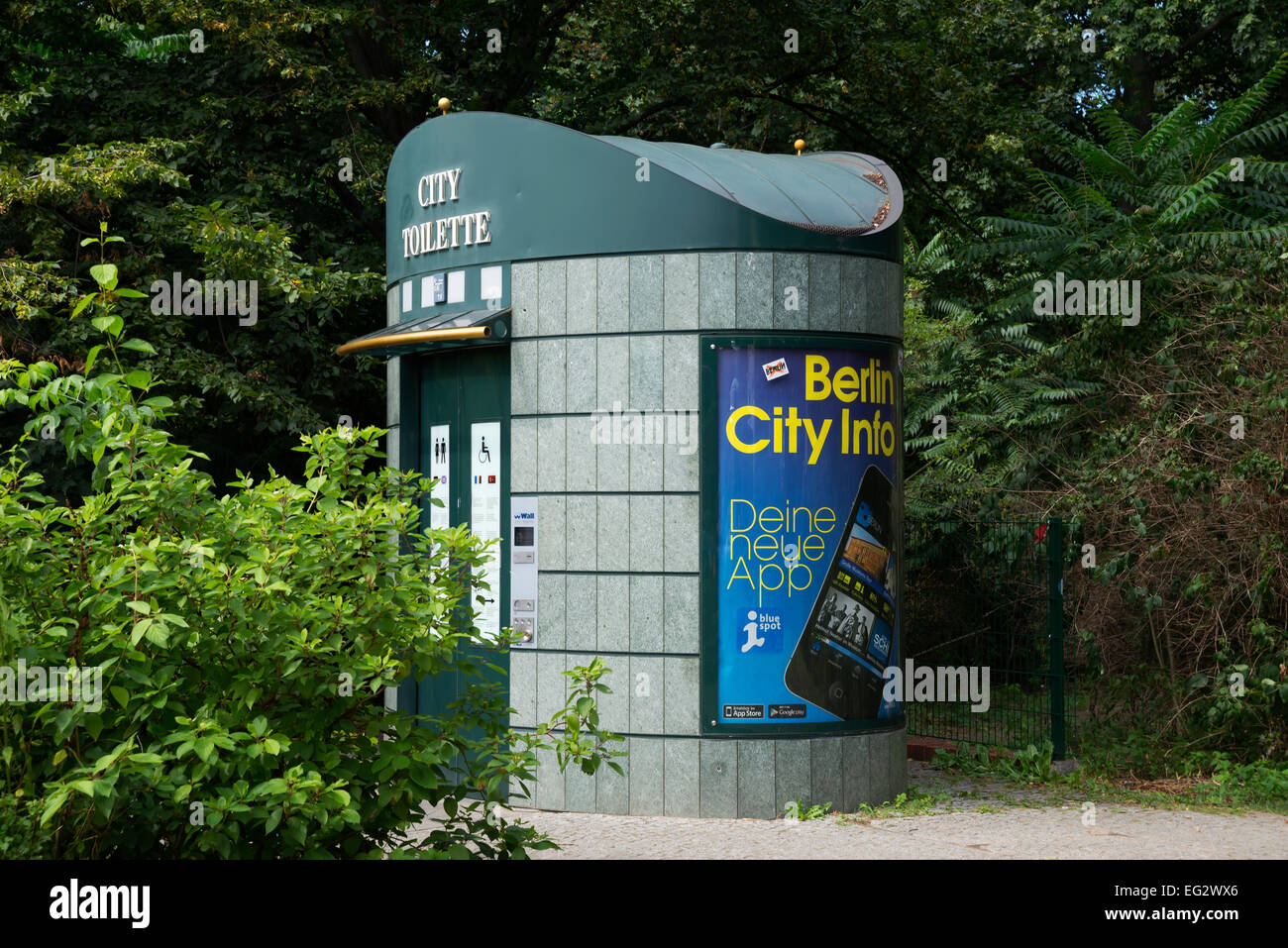 Compact toilet , Berlin, Capital of Germany, Europe. - Stock Image