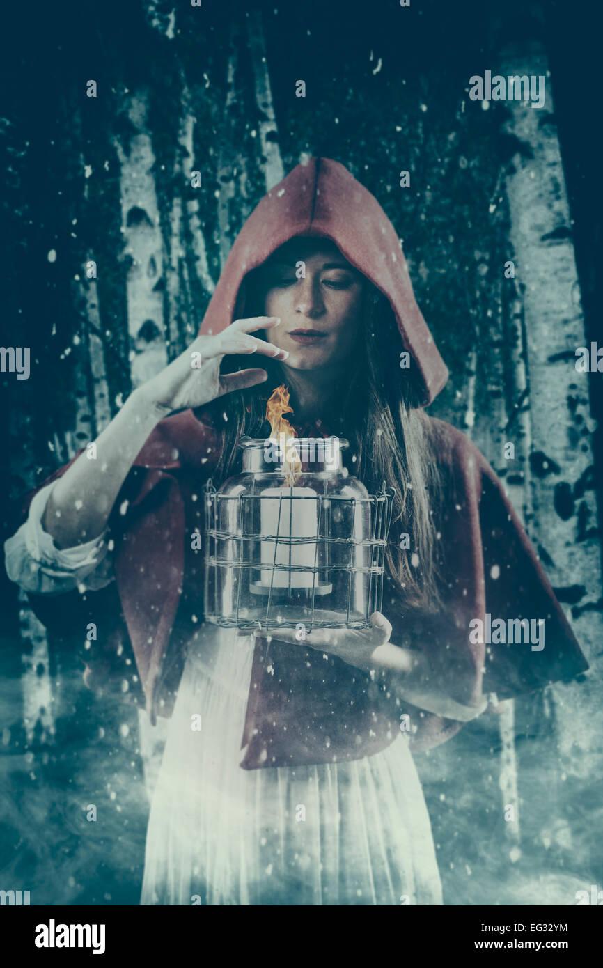 Sorceress casting spell