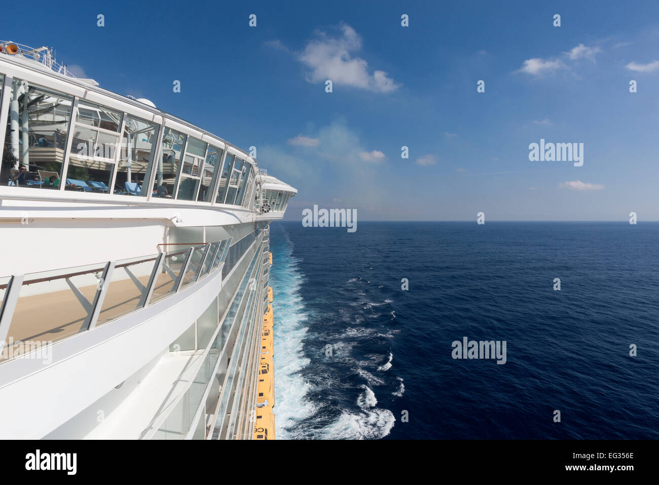 Oasis of the Seas in the Mediterranean Sea during her 2014-visit in Europe - Stock Image