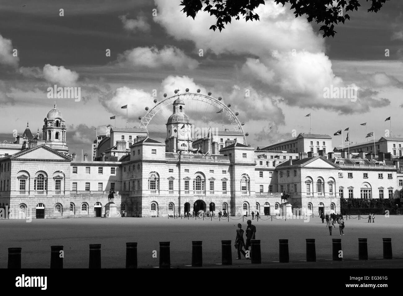 Horseguards Parade and London Eye London - Stock Image