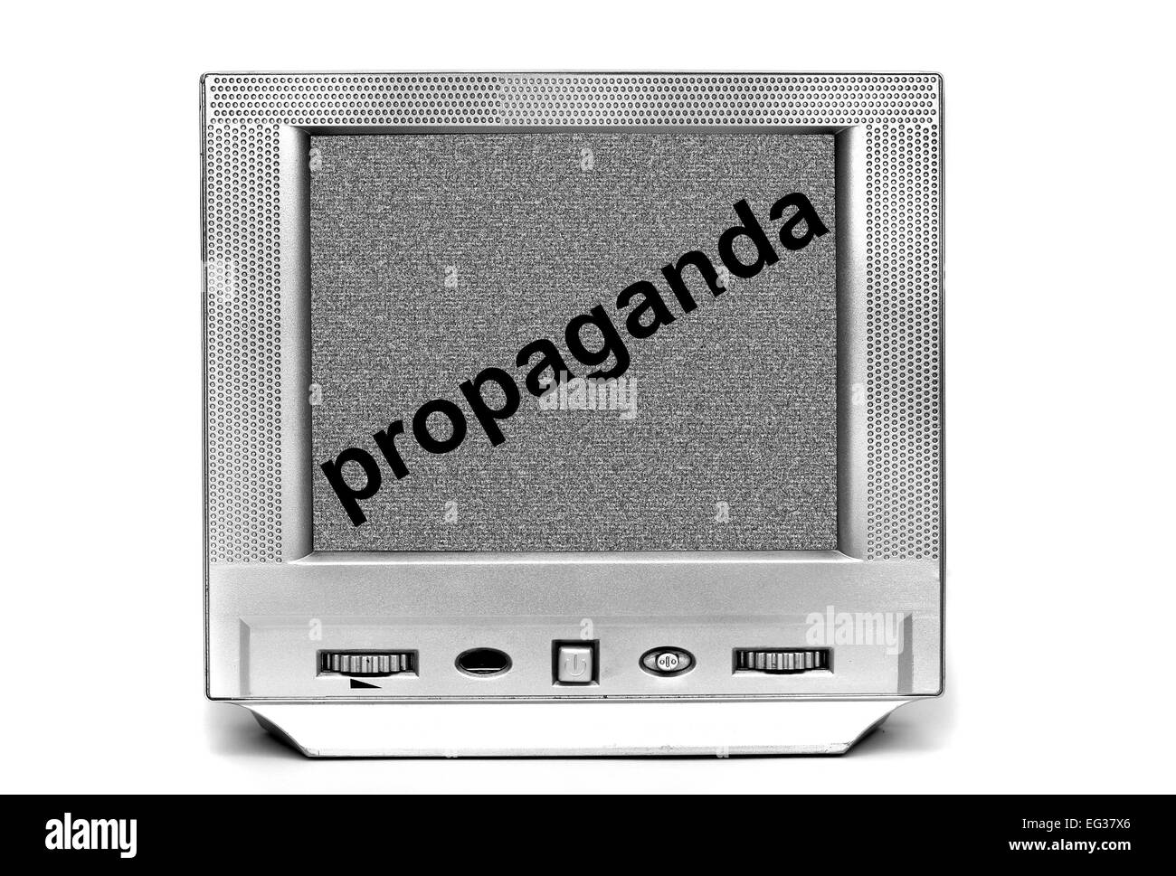 TV propaganda - Stock Image