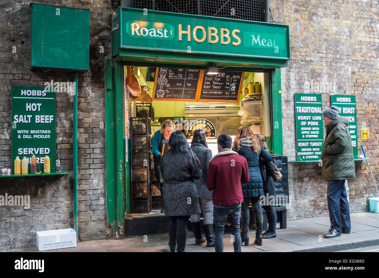 Roast Meat Market Stall Borough Market Southwark London UK - Stock Image