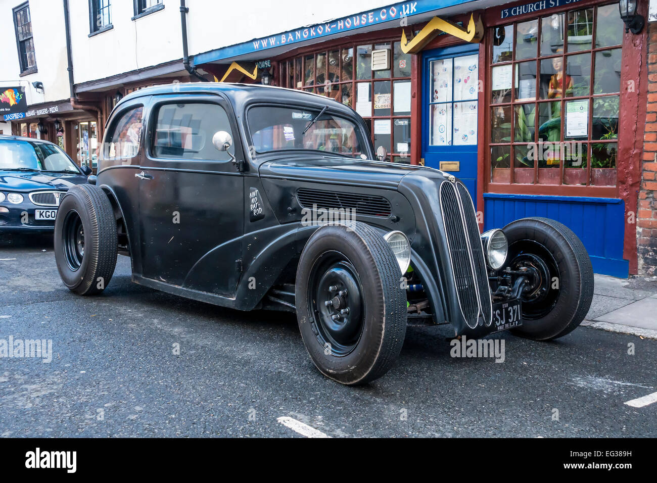 Hot Rod with V8 Engine Stock Photo: 78748365 - Alamy