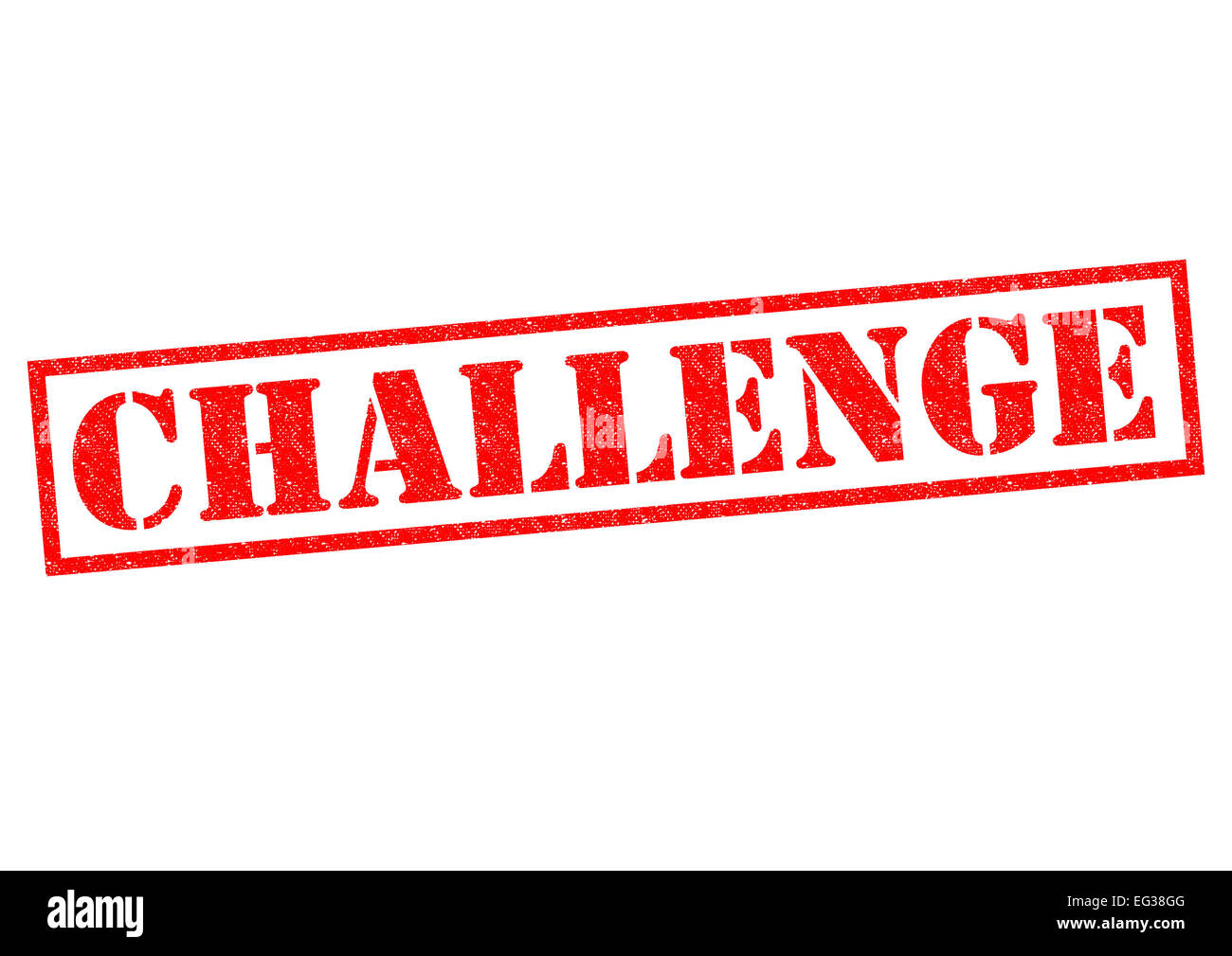 CHALLENGE red Rubber Stamp over a white background. - Stock Image