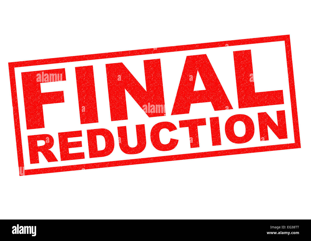 FINAL REDUCTION red Rubber Stamp over a white background. - Stock Image