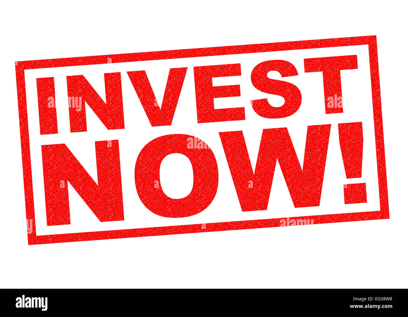 TIME TO INVEST! red Rubber Stamp over a white background. - Stock Image