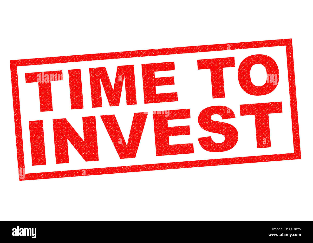 TIME TO INVEST red Rubber Stamp over a white background. - Stock Image