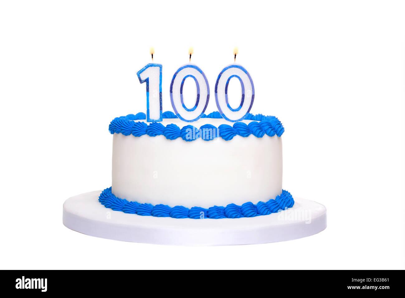 Birthday Cake 100 Candles Stock Photos Birthday Cake 100 Candles