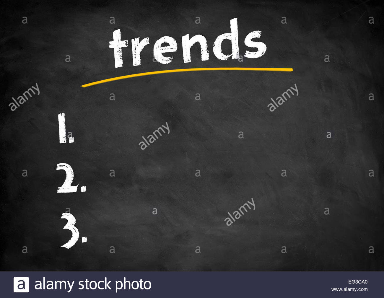 trend chalkboard concept - Stock Image