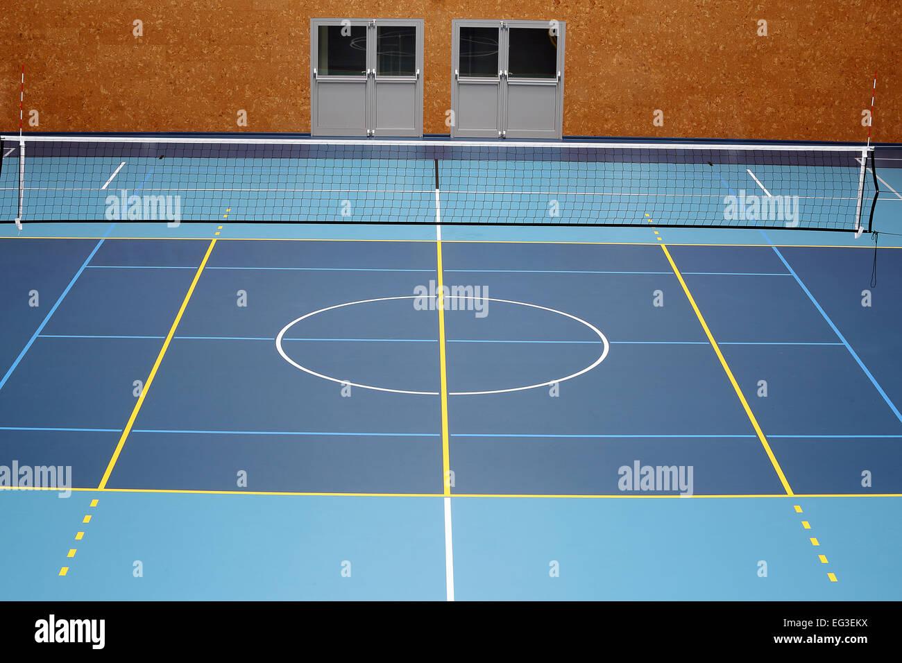 Volleyball Court Indoor Stock Photos & Volleyball Court Indoor Stock ...