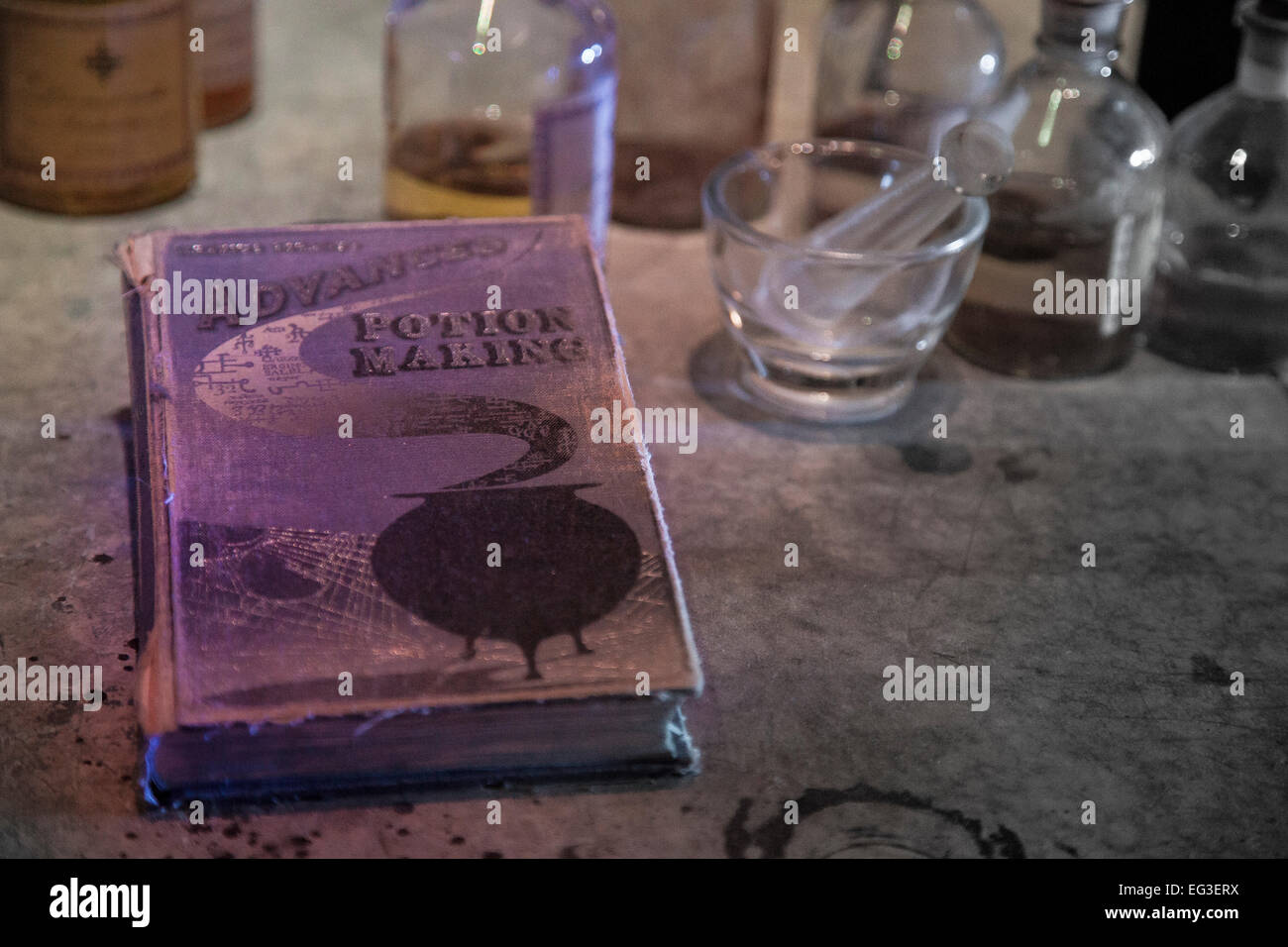 advanced potion making book harry potter - Stock Image