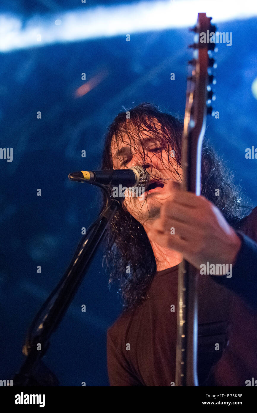 Gojira performing live - 2014 Festival Vagos Open Air - Day 3  Featuring: Joe Duplantier Where: Vagos, Portugal - Stock Image