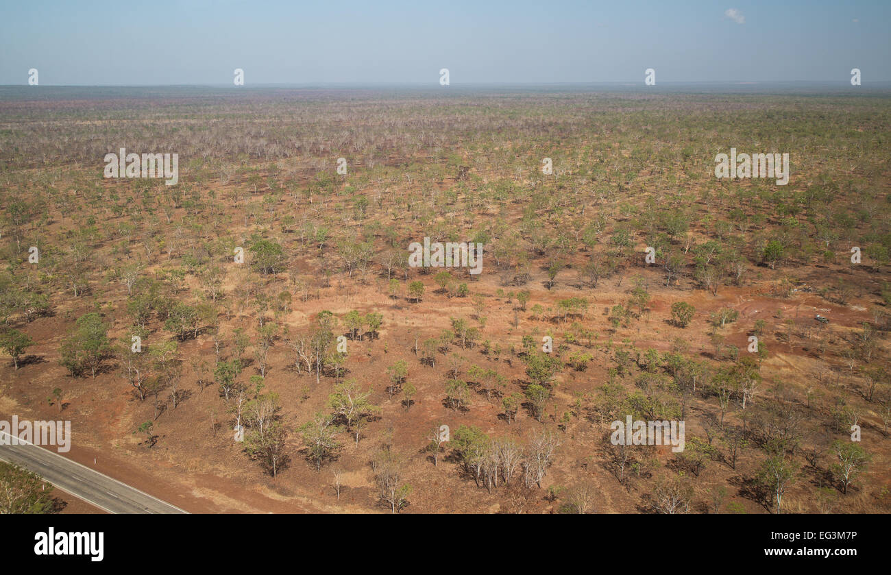 Australian outback from the air - Stock Image