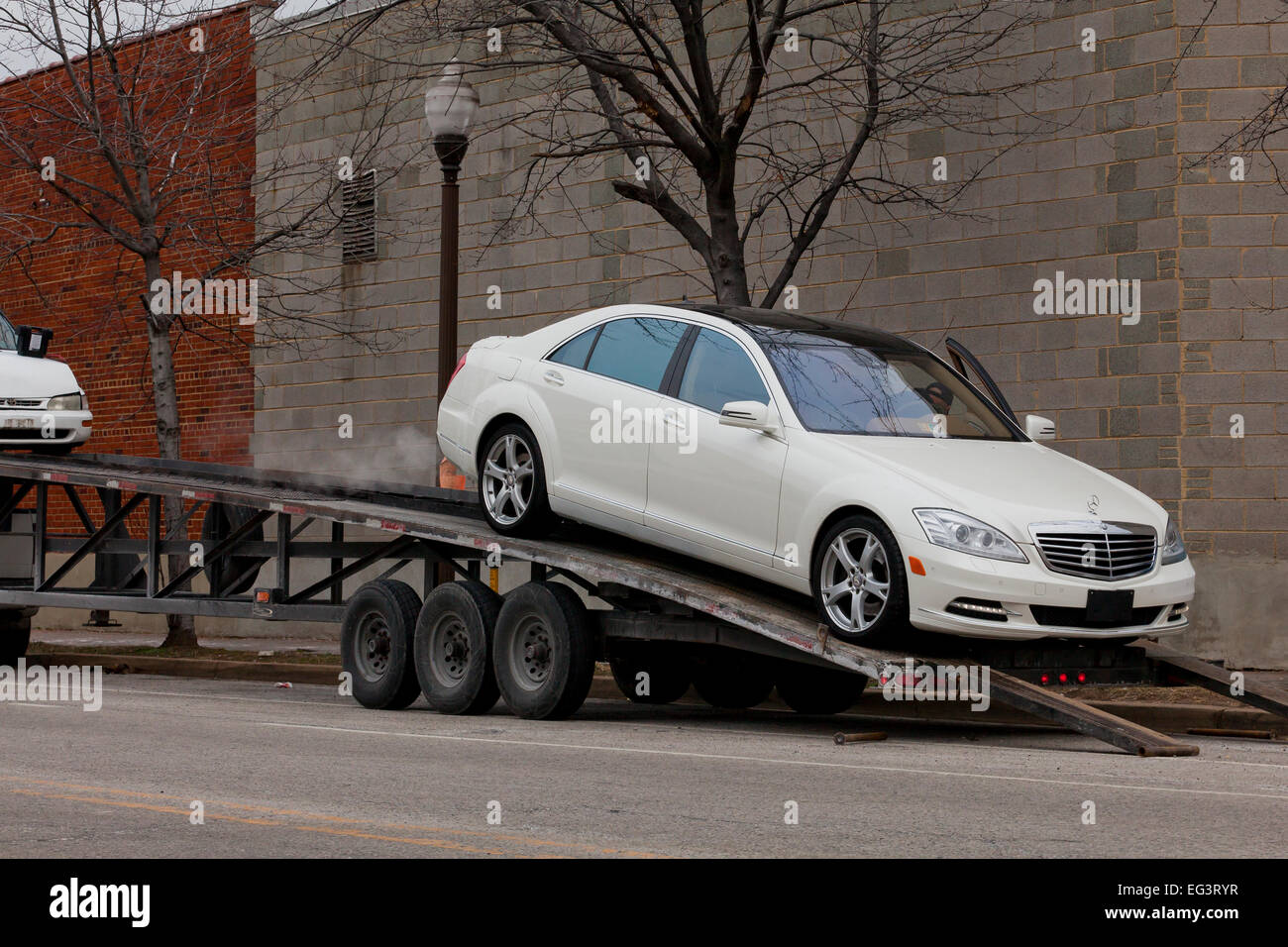 Car Being Loaded On Car Stock Photos Car Being Loaded On Car Stock