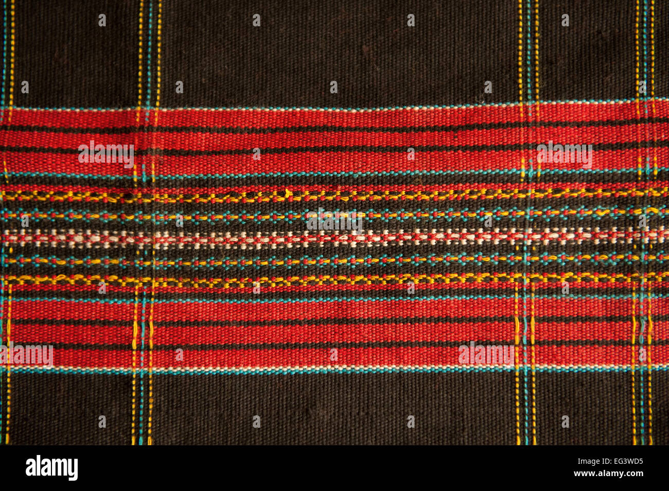 ABSTRACT MOTIF PATTERN FROM ANTIQUE TRADITIONAL TEXTILE - Stock Image