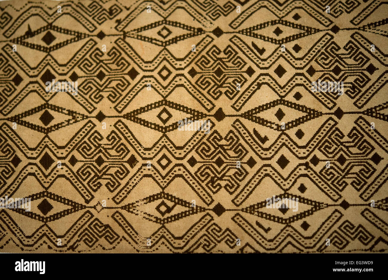Abstract Motif Pattern Antique Traditional Textile Asian Art Weaving Stock Photo Alamy