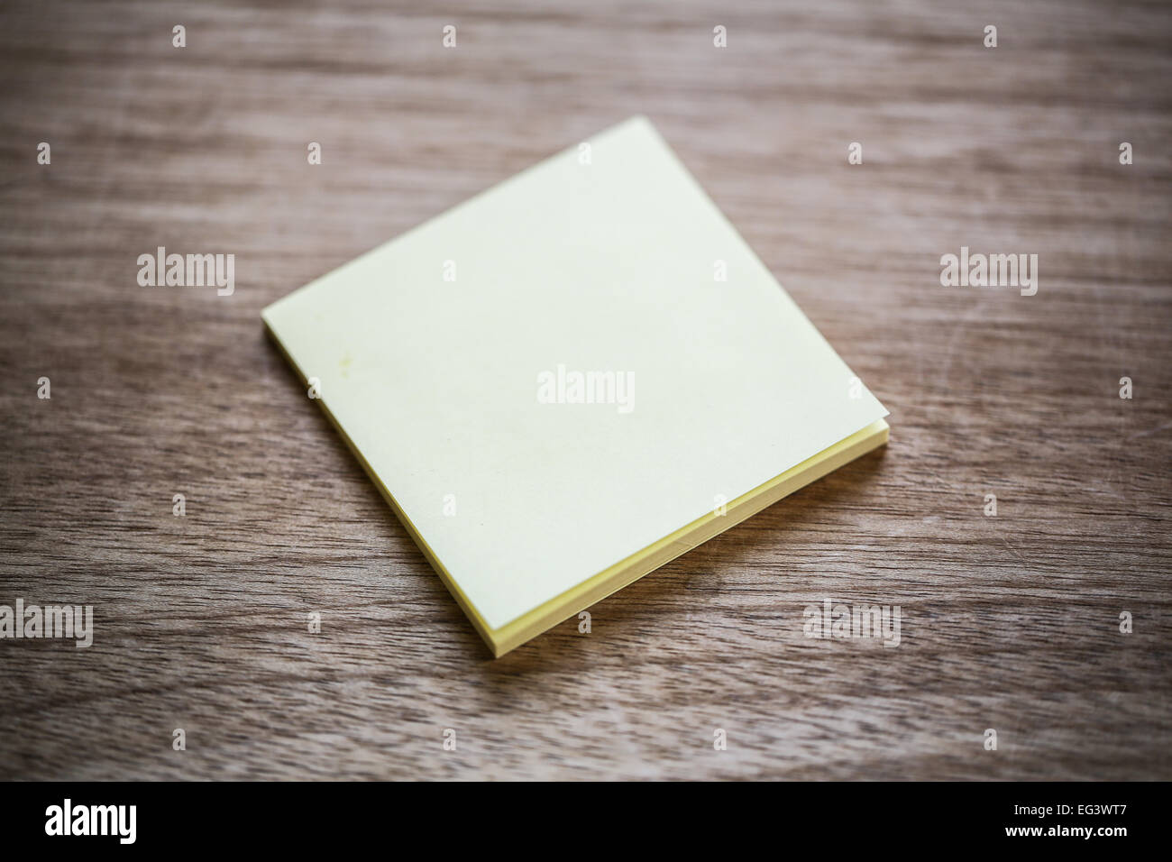 A post-it note. - Stock Image