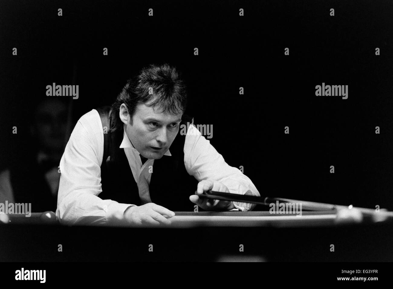 Jimmy White, the British professional snooker player, nicknamed 'The Whirlwind' - Stock Image