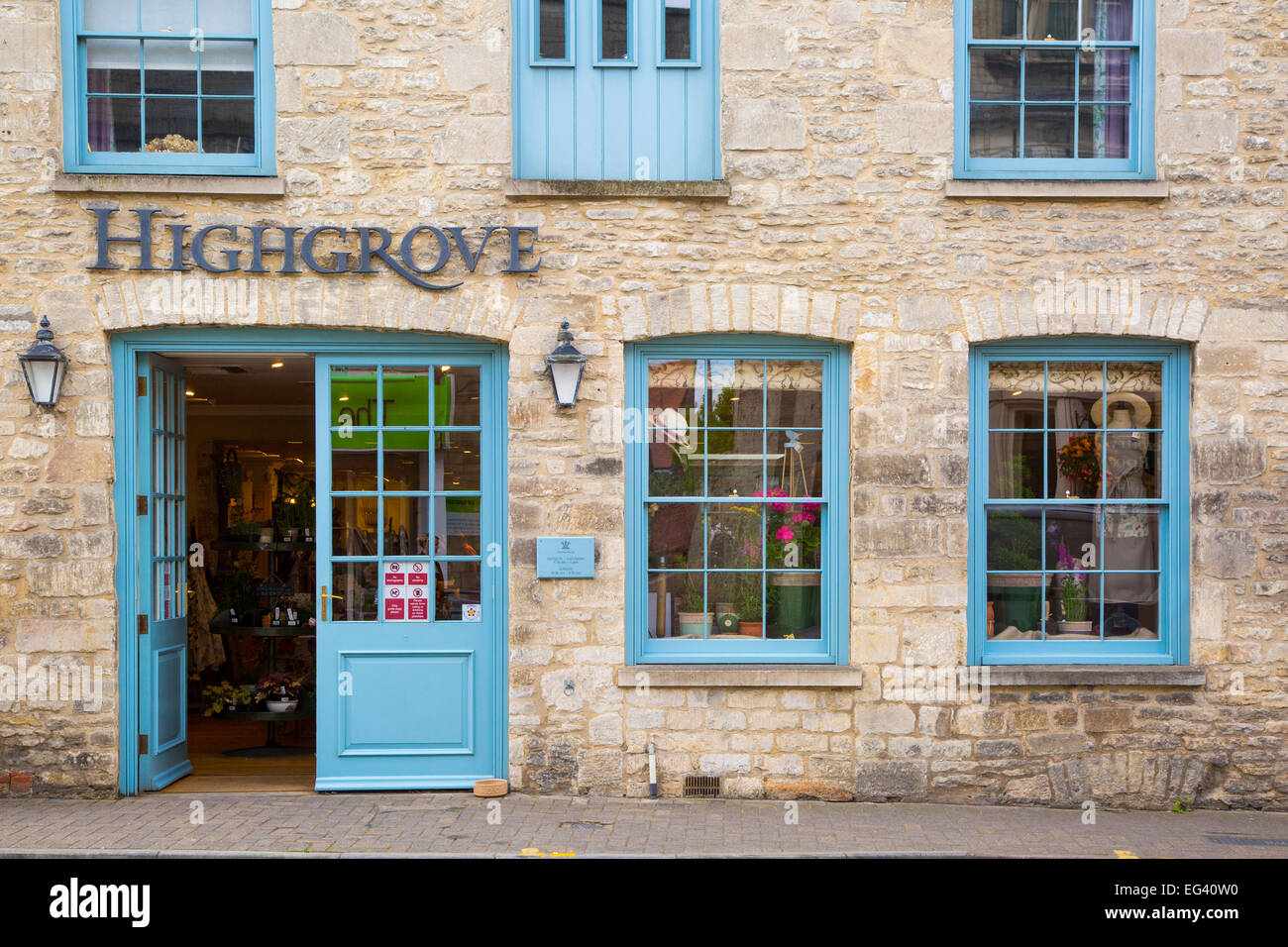 Front door of Prince Charlesu0027s Highgrove store in the Cotswold town of Tetbury Gloucestershire England UK & Front door of Prince Charlesu0027s Highgrove store in the Cotswold town ...