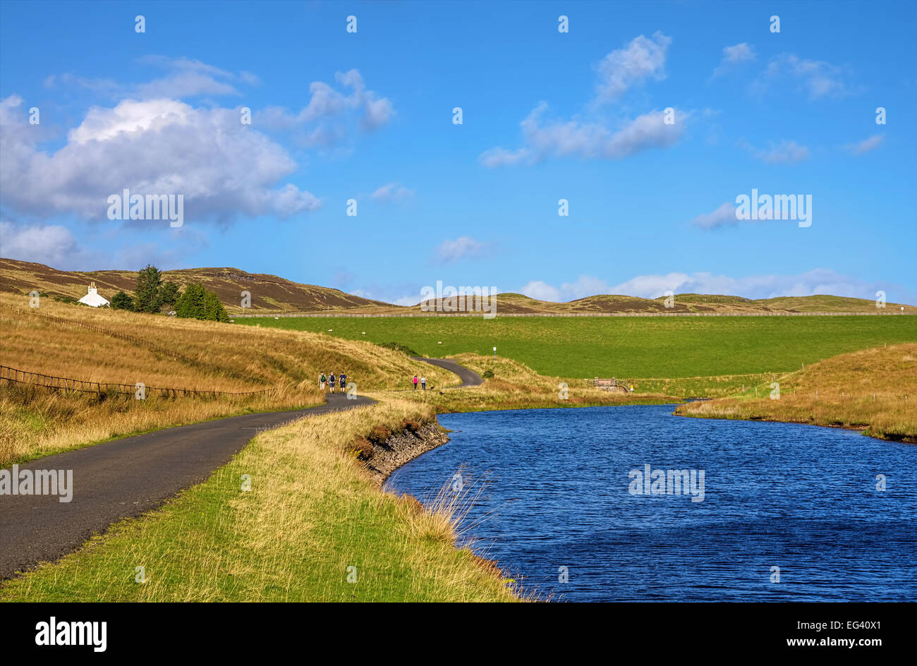 Hiking trail in Inverclyde - Stock Image