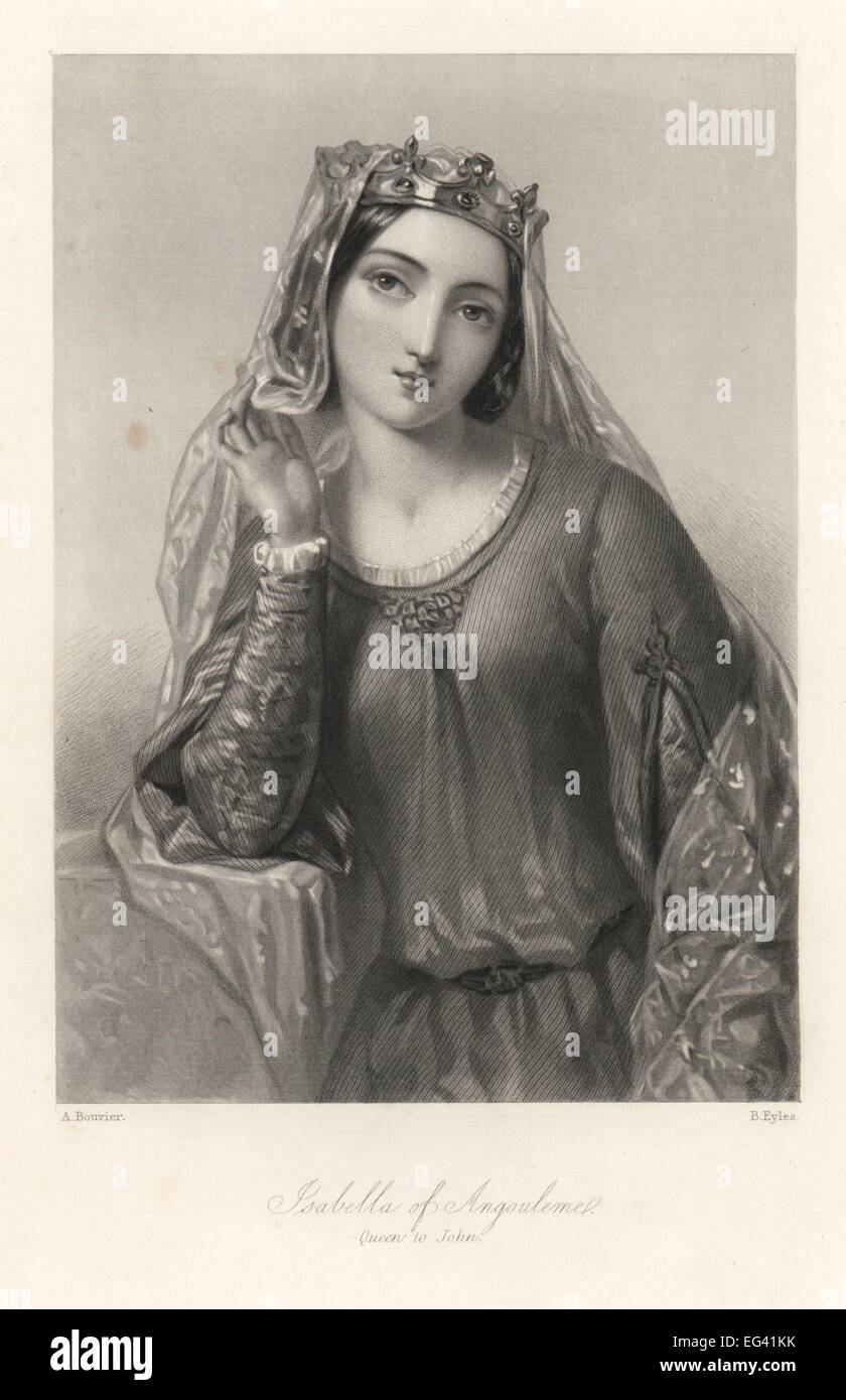Isabella of Angouleme, queen consort of King John of England. - Stock Image