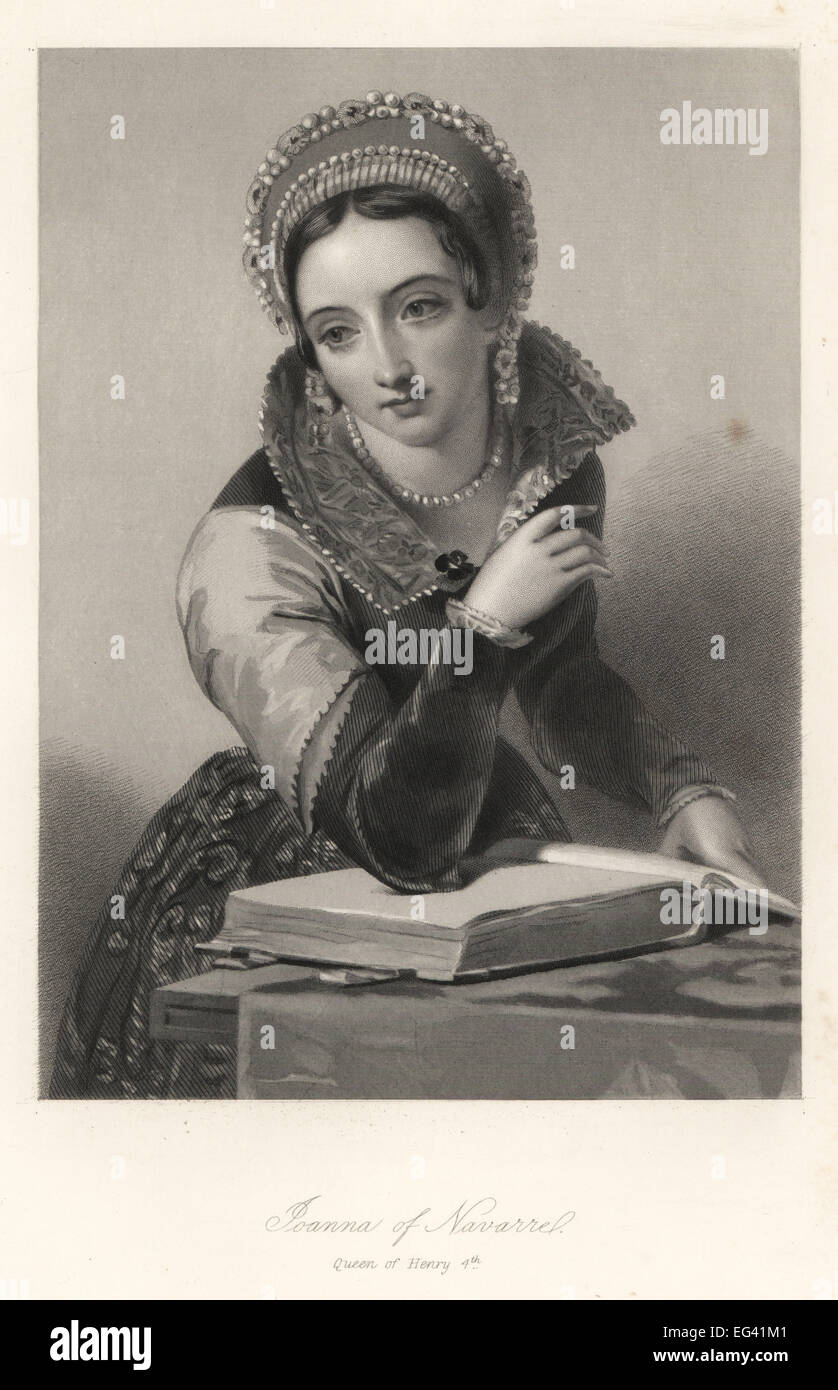 Joanna of Navarre, queen of King Henry IV of England. - Stock Image