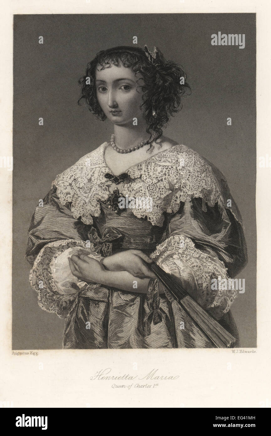 Henrietta Maria, queen of King Charles I of England. - Stock Image