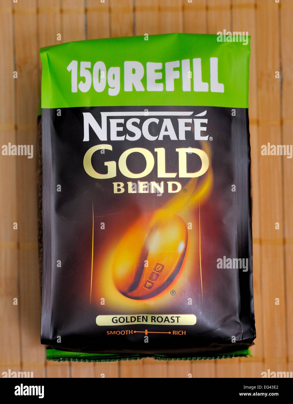 Nescafe 150g refill retail pack - Stock Image