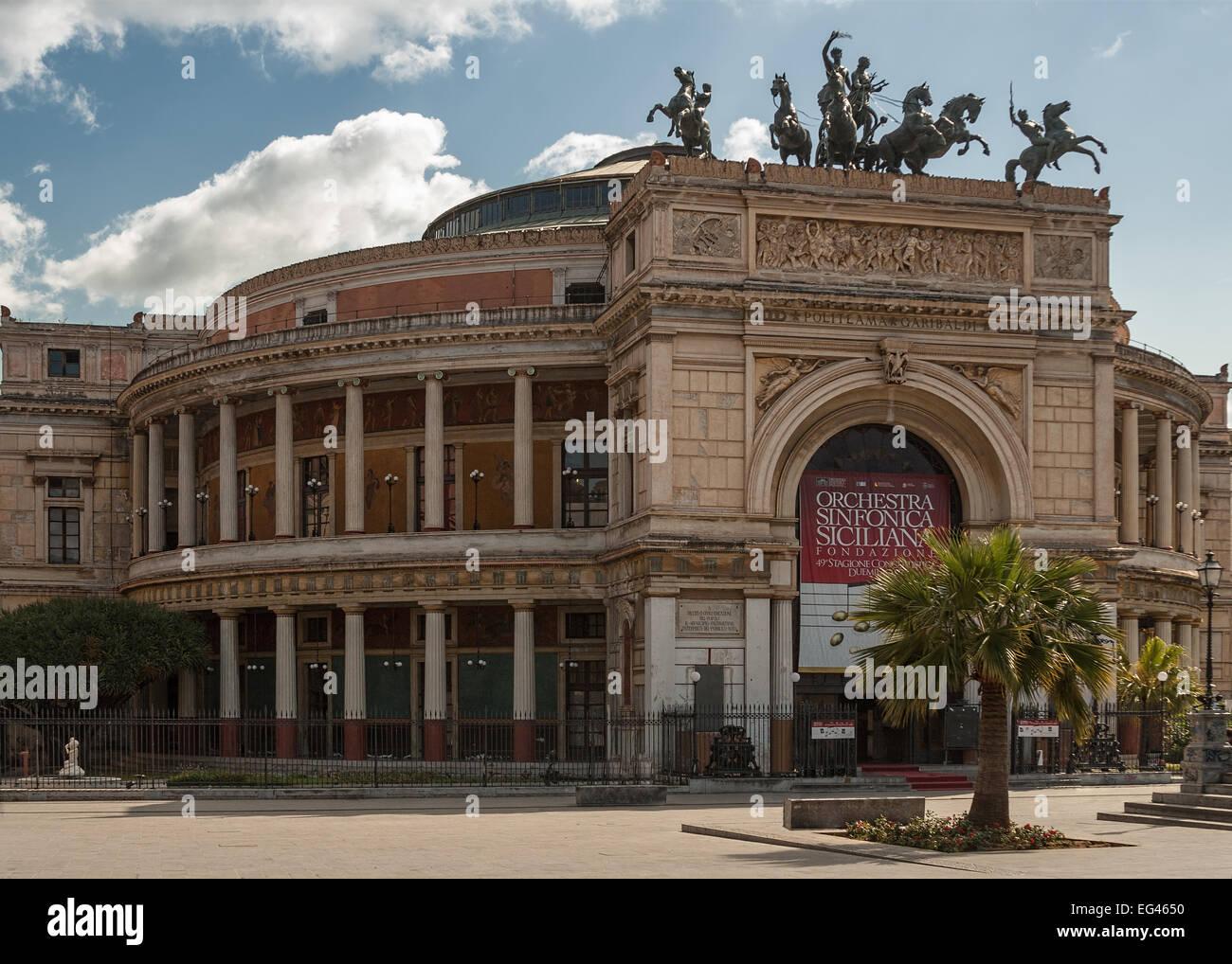 The Politeama Garibaldi theater in Palermo. Sicily. Italy Stock Photo