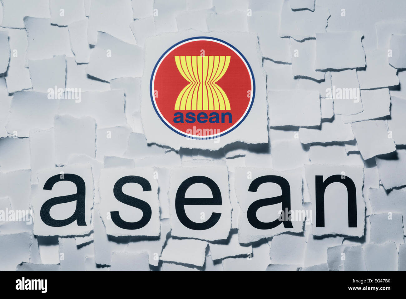 Association of Southeast Asian Nations. ASEAN - Stock Image
