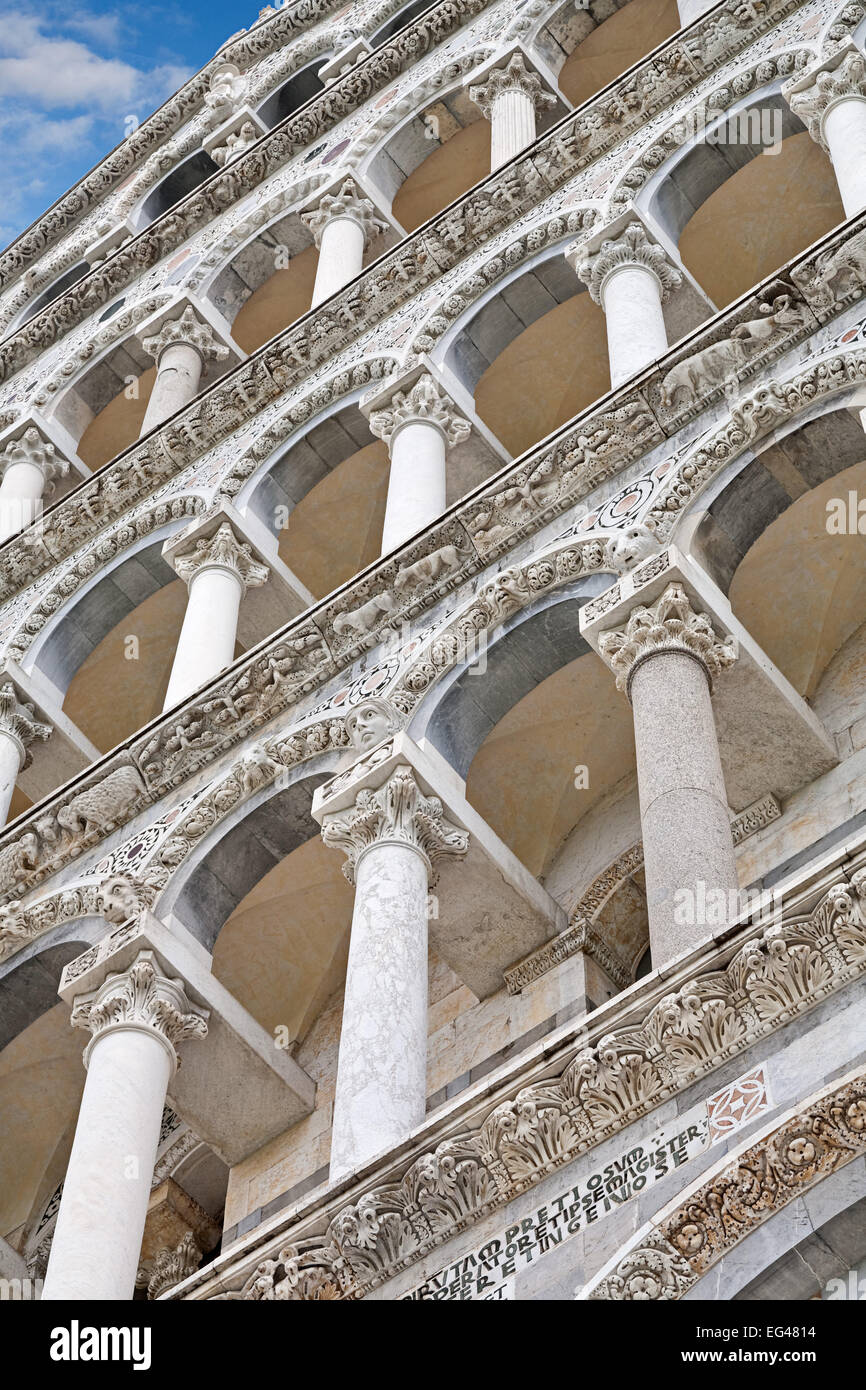 Architectural Detail on the Duomo at Pisa in Italy - Stock Image