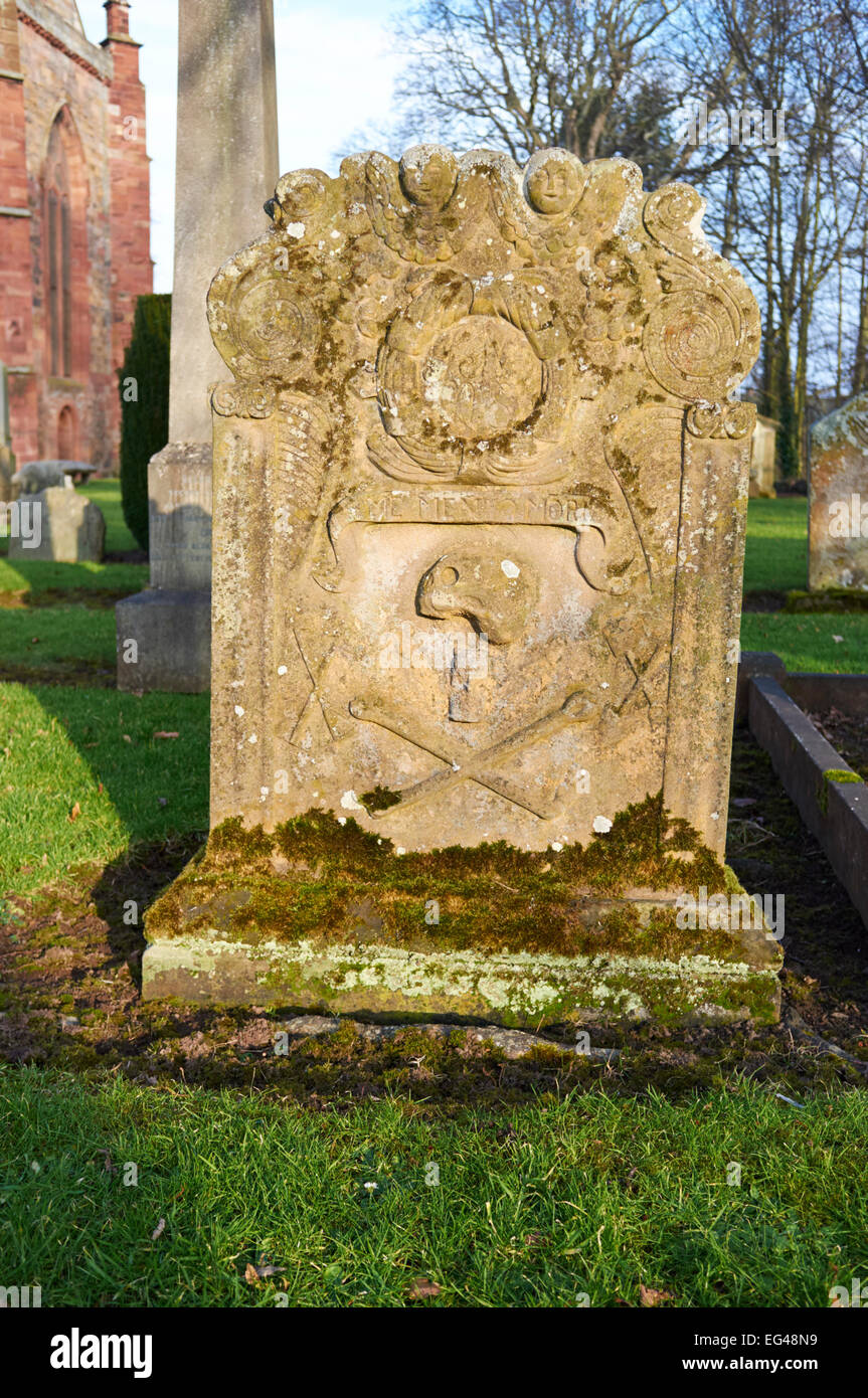 GRAVESTONE,  HADDINGTON, EAST LOTHIAN, SCOTLAND, SAINT MARY'S CHURCH YARD - Stock Image