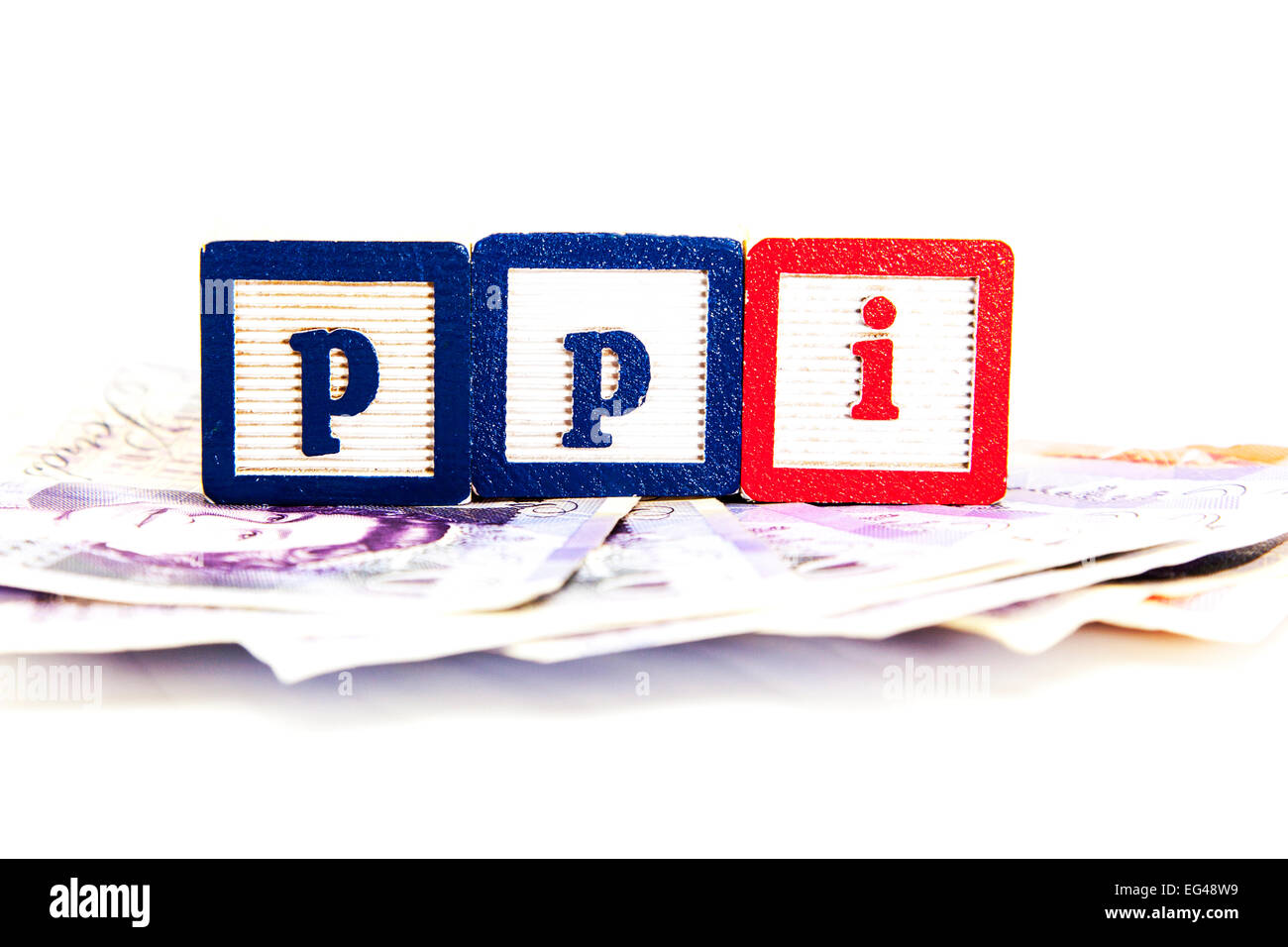 Ppi mis-selling scandal payment protection scheme money payback claim payments insurance banks bank cut out copy - Stock Image