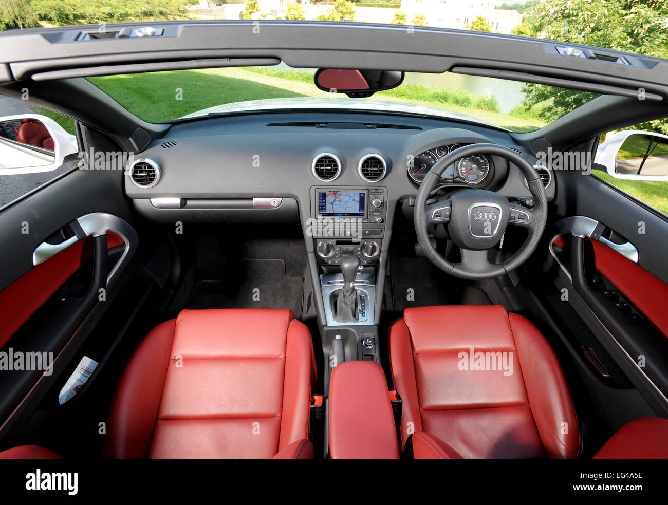 2008 Audi A3 Convertible Car Interior Stock Photo Alamy