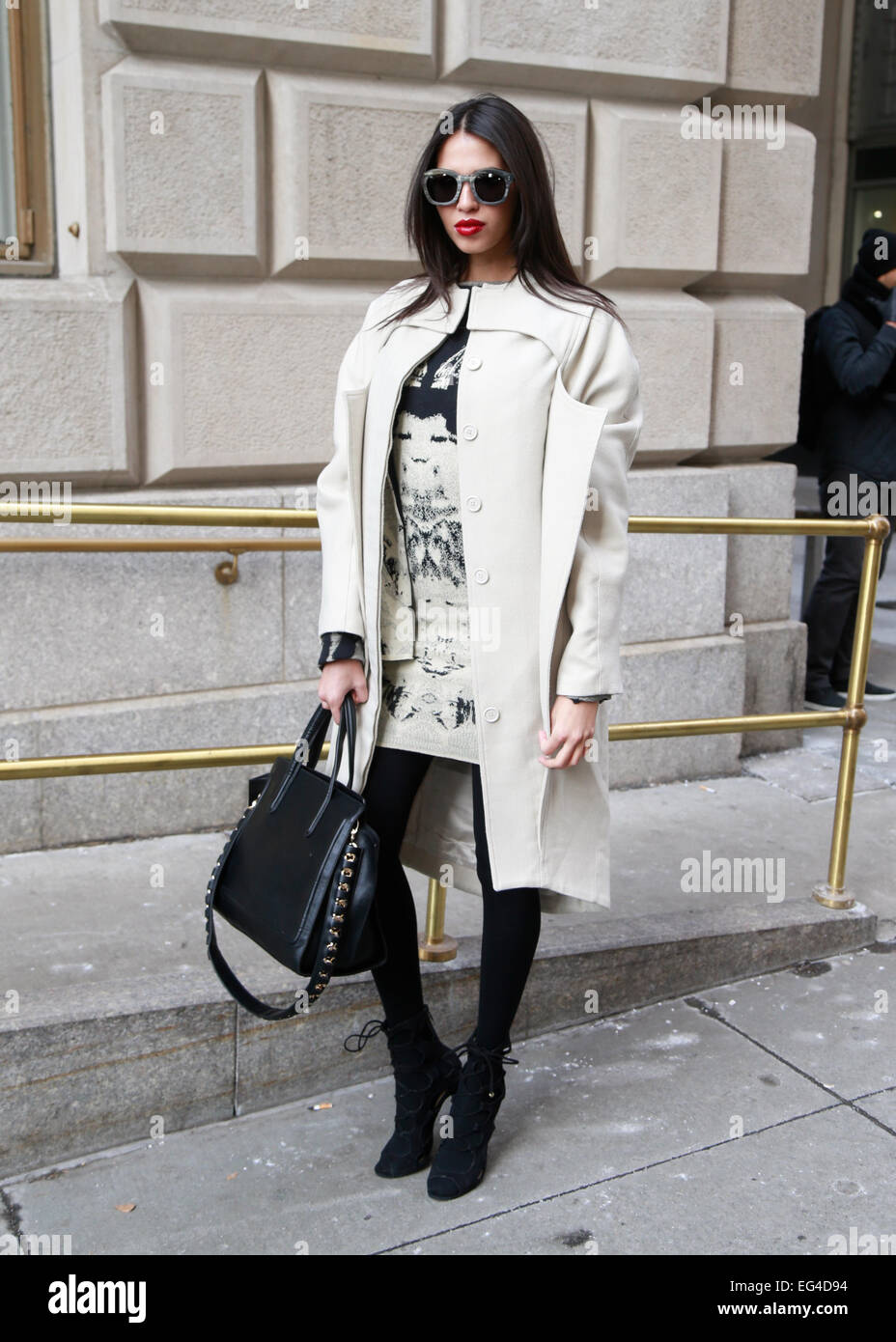 New York City, New York, USA. 15th February, 2015. Kayshle arriving at the Victoria Beckham runway show in New York Stock Photo