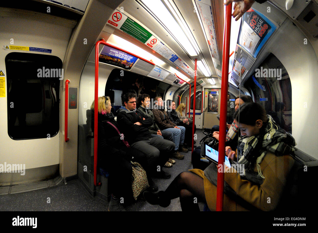 London, England, UK. London underground / tube carriage. - Stock Image