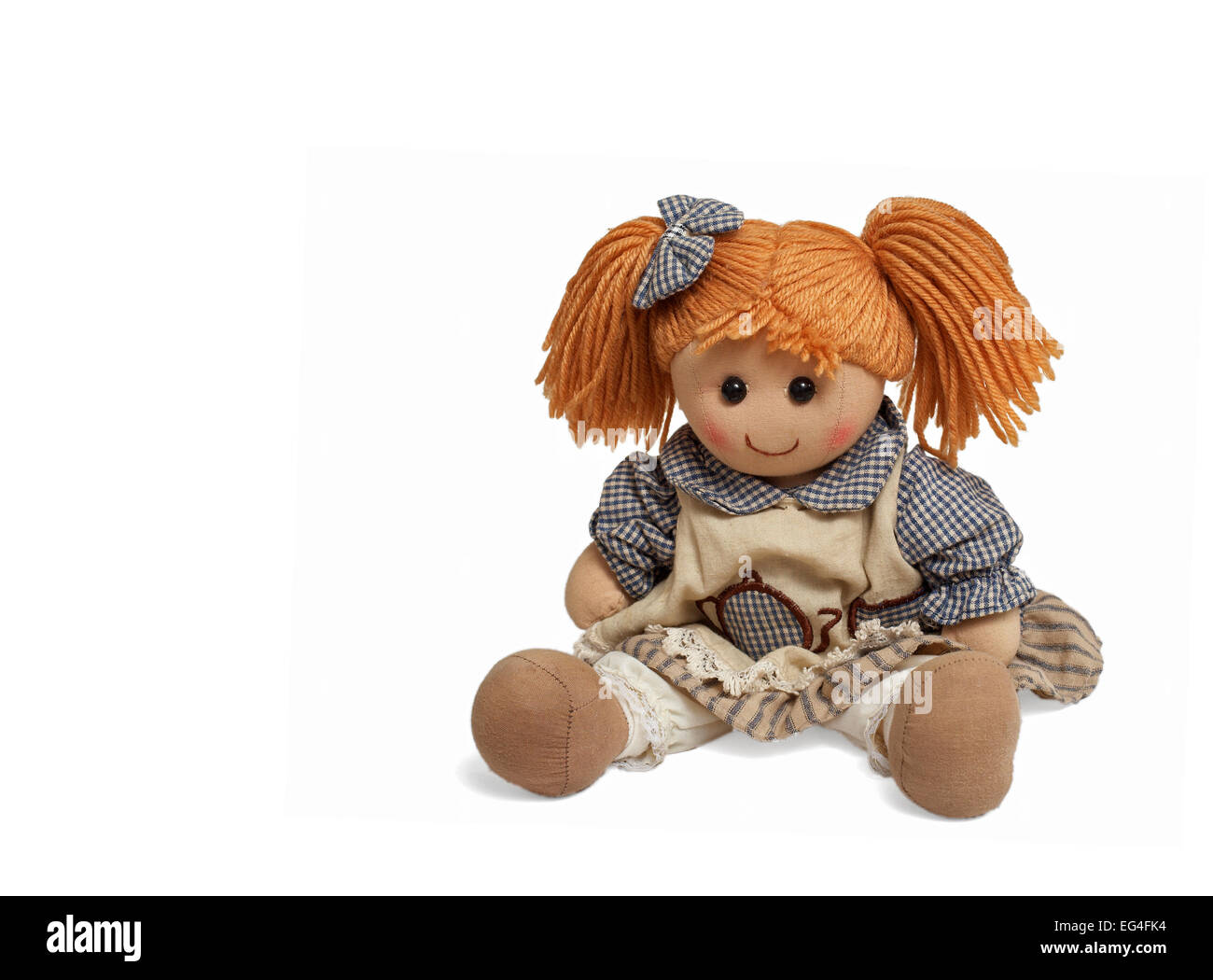Lovely funny doll - Stock Image