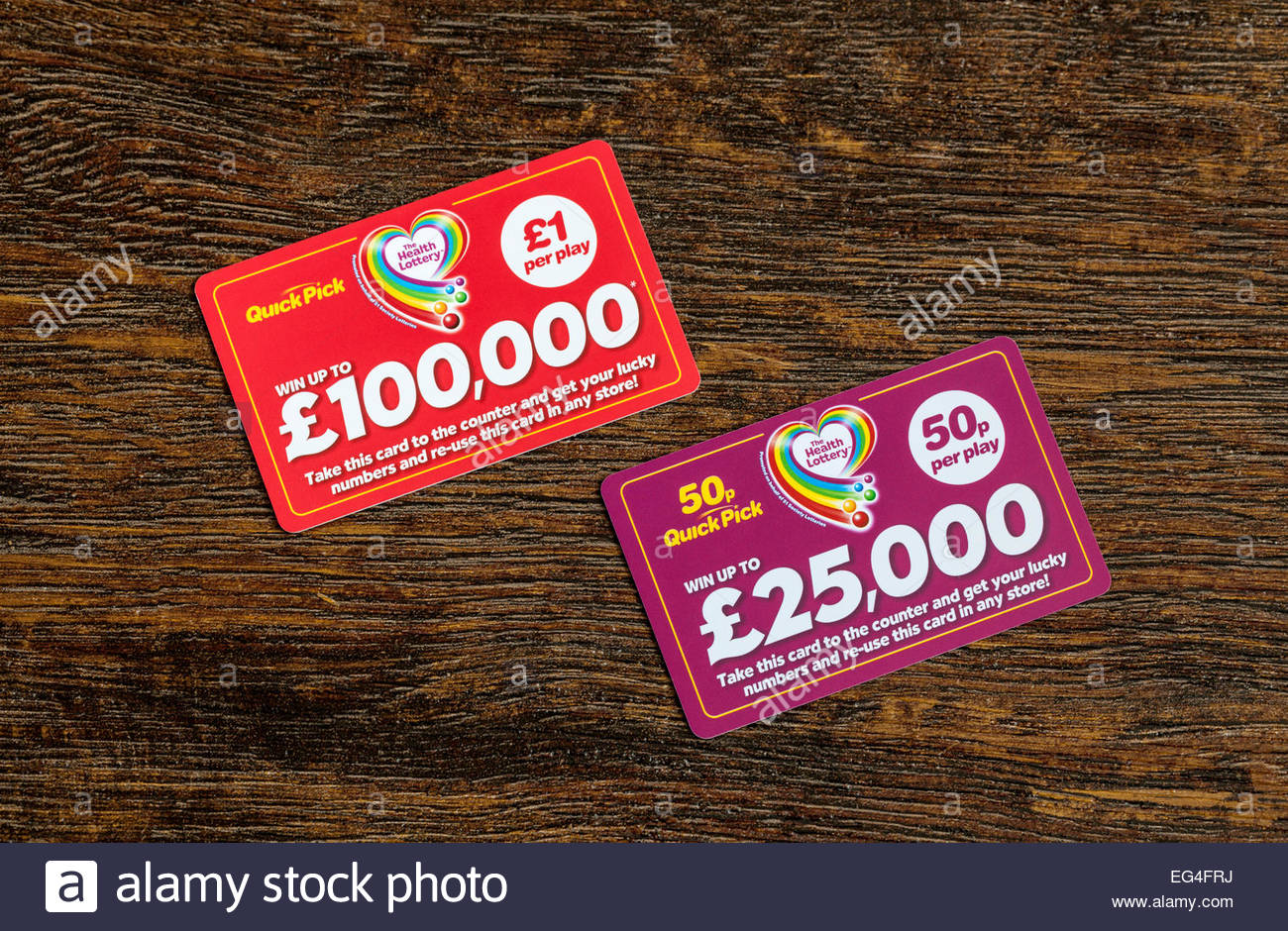 Health lottery 50p quick pick prizes